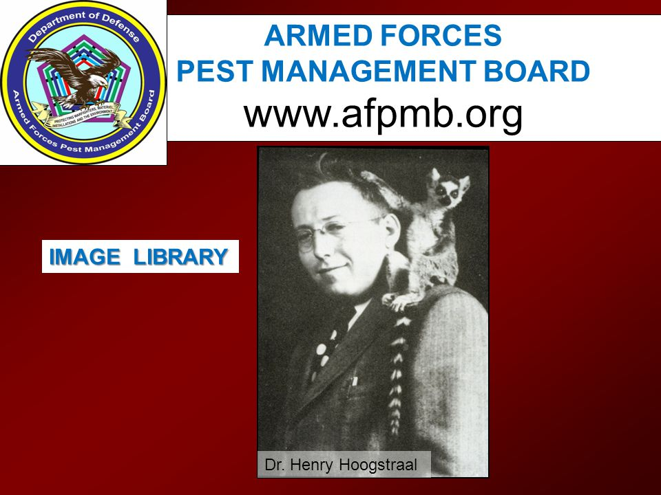 www.afpmb.org ARMED FORCES PEST MANAGEMENT BOARD IMAGE LIBRARY