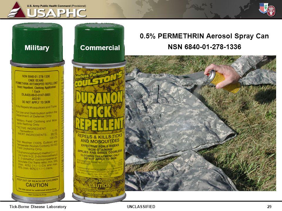 0.5% PERMETHRIN Aerosol Spray Can