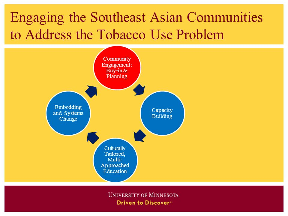 Engaging the Southeast Asian Communities to Address the Tobacco Use Problem