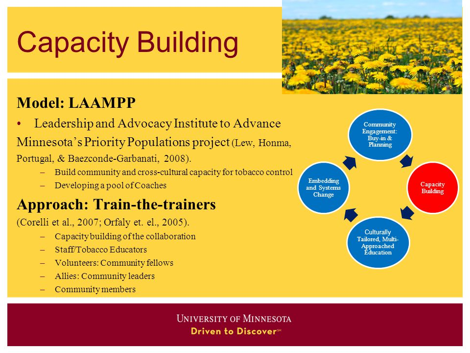 Capacity Building Model: LAAMPP Approach: Train-the-trainers
