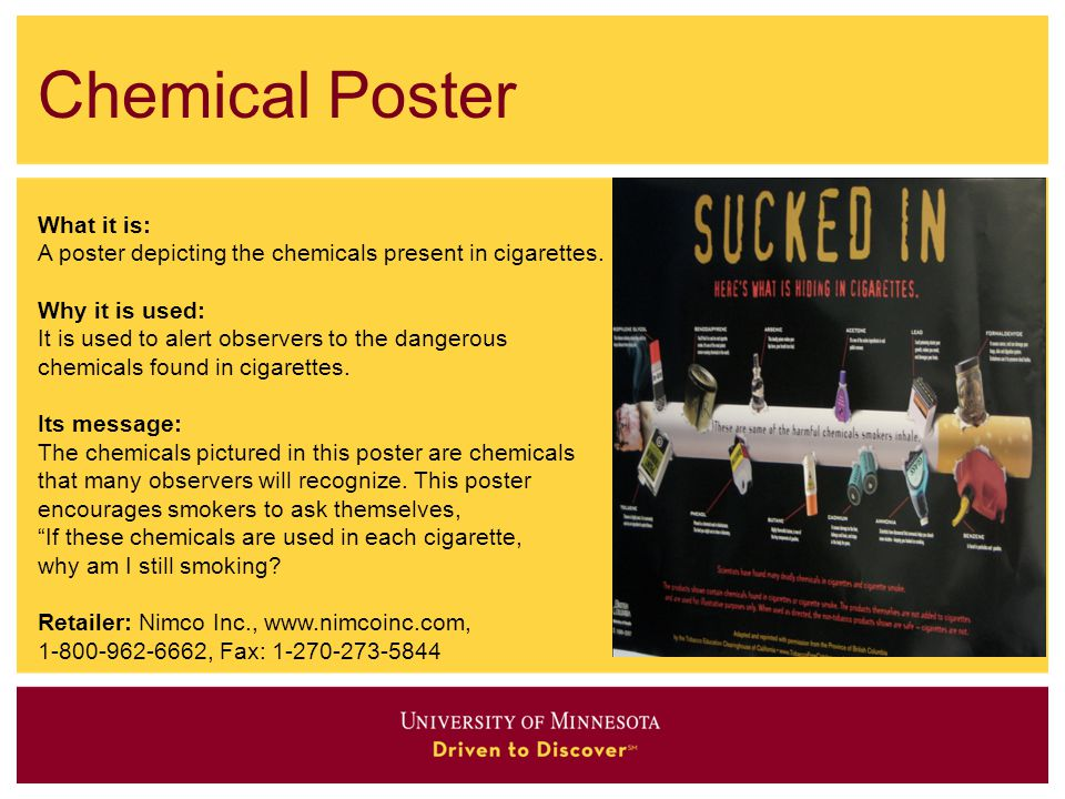 Chemical Poster What it is:
