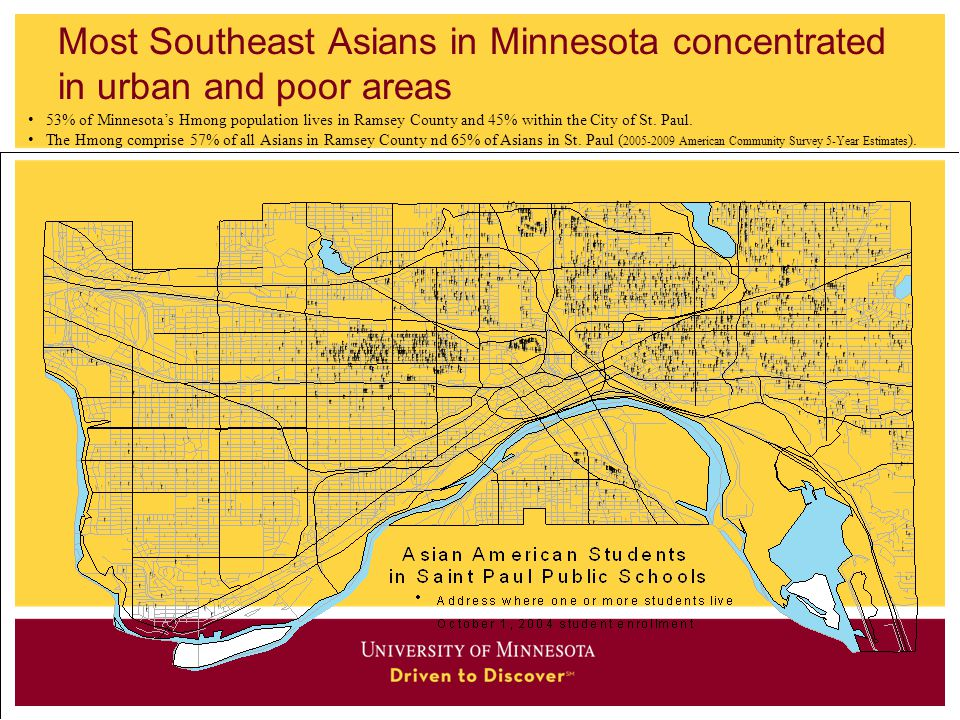 Most Southeast Asians in Minnesota concentrated in urban and poor areas