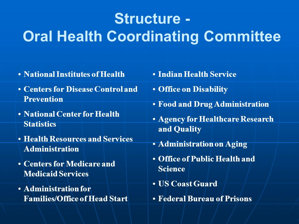 Oral Health Coordinating Committee