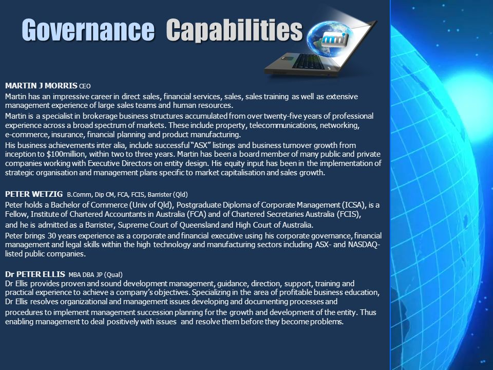 Governance Capabilities