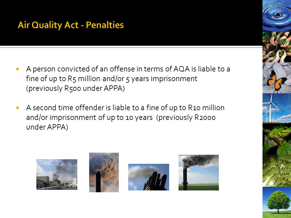 Air Quality Act - Penalties