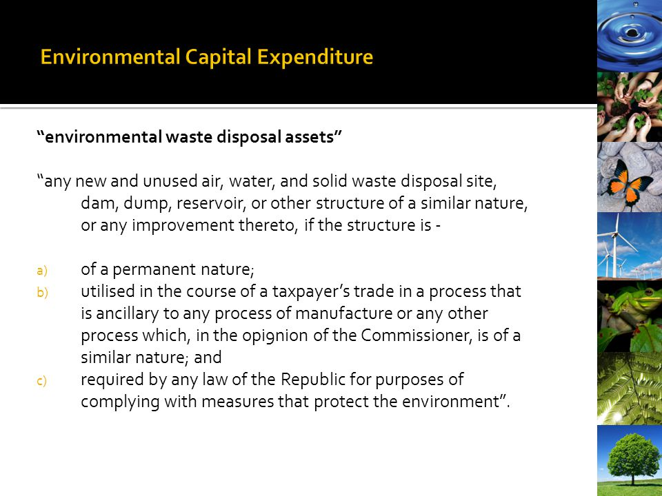 Environmental Capital Expenditure