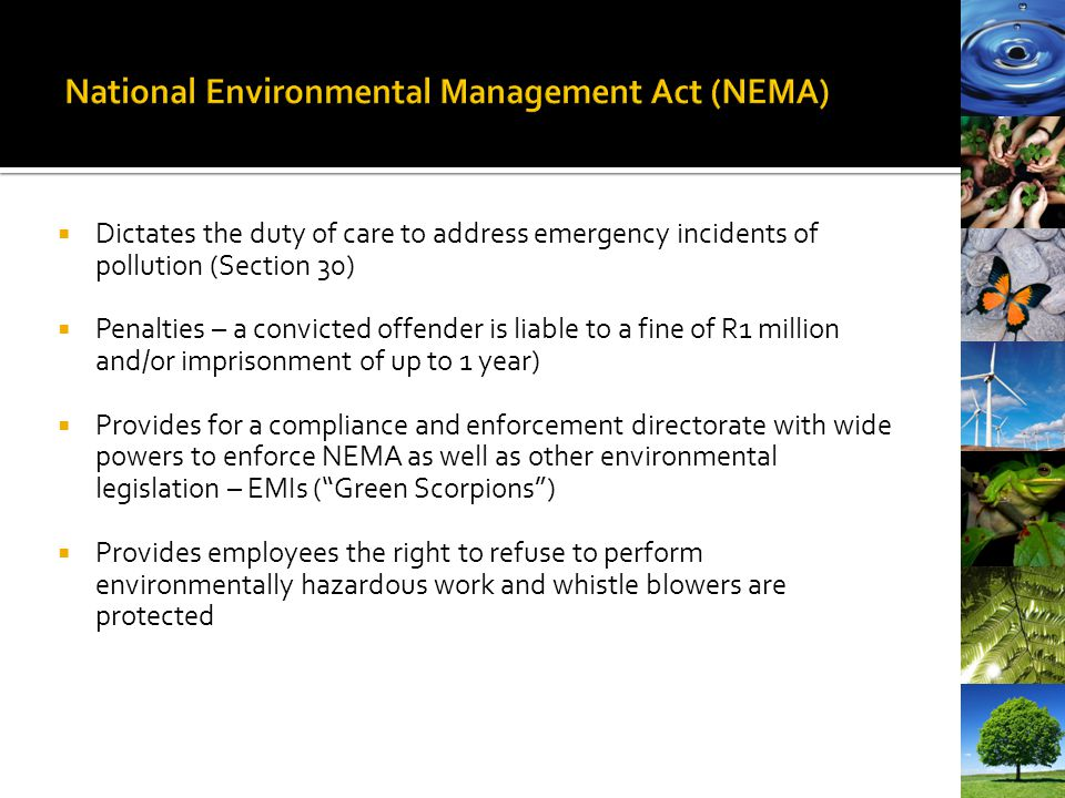 National Environmental Management Act (NEMA)