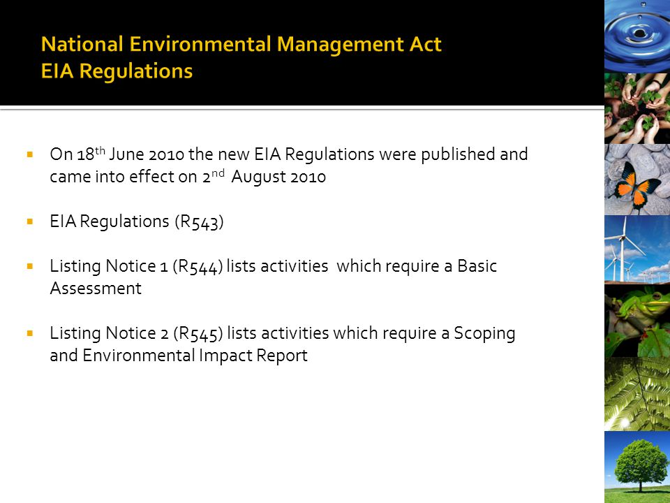 National Environmental Management Act EIA Regulations