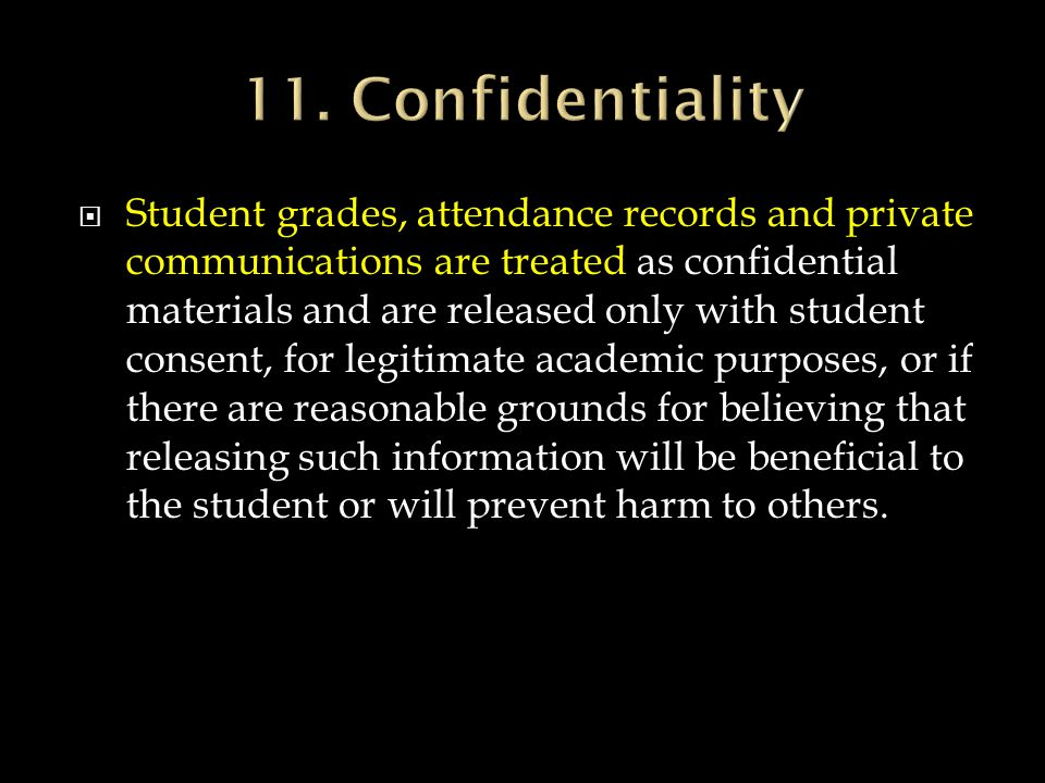 11. Confidentiality