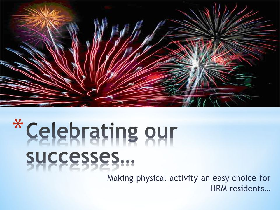 Celebrating our successes…