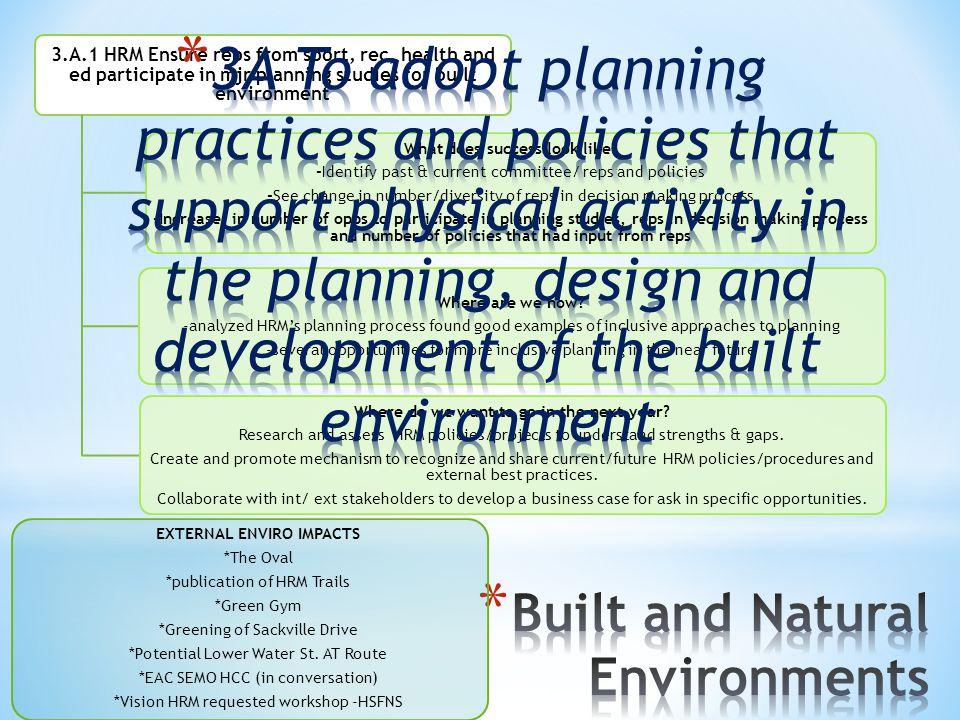 Built and Natural Environments