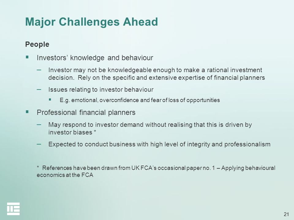 Major Challenges Ahead