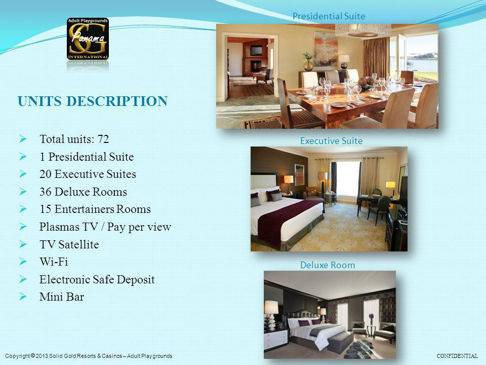 UNITS DESCRIPTION Total units: 72 1 Presidential Suite