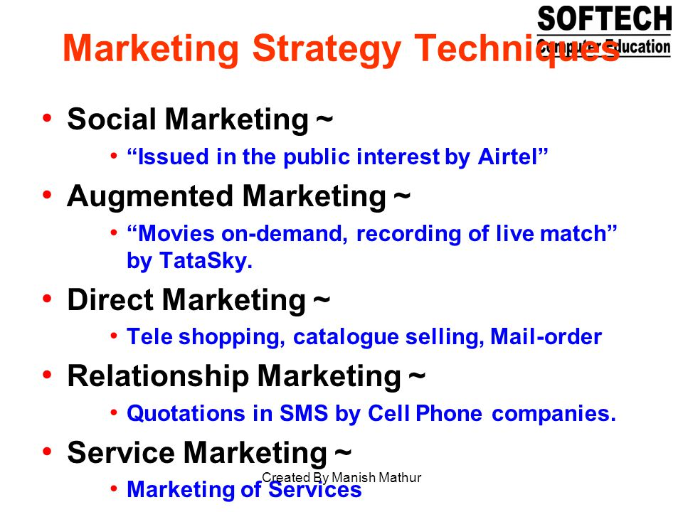 Marketing Strategy Techniques