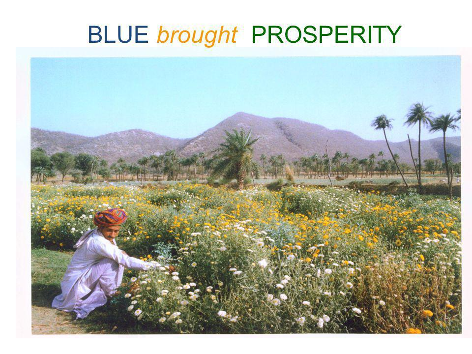 BLUE brought PROSPERITY