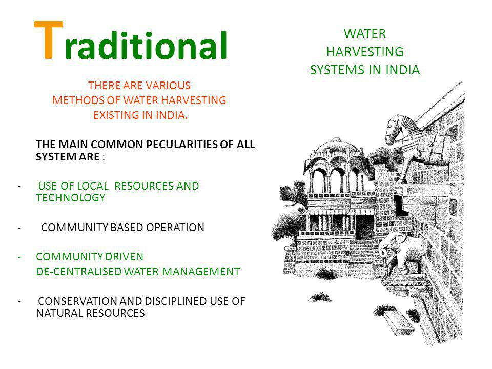 WATER HARVESTING SYSTEMS IN INDIA