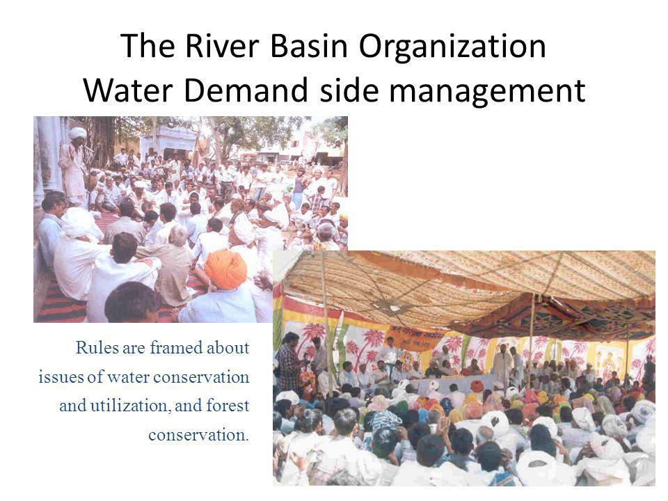 The River Basin Organization Water Demand side management