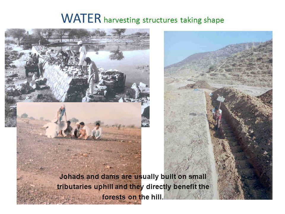 WATER harvesting structures taking shape