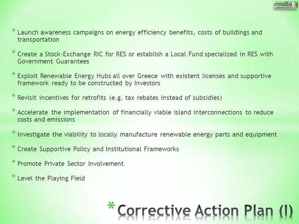 Corrective Action Plan (I)