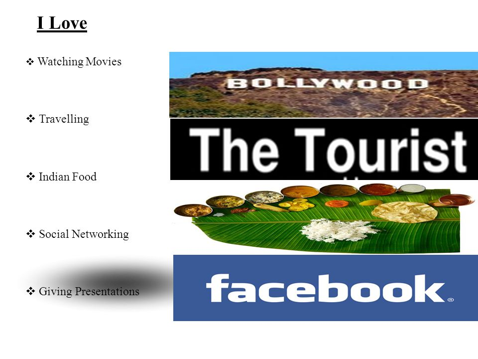 I Love Travelling Indian Food Social Networking Giving Presentations
