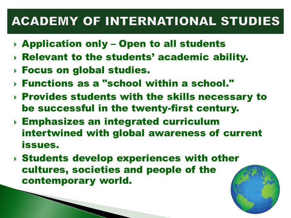 ACADEMY OF INTERNATIONAL STUDIES
