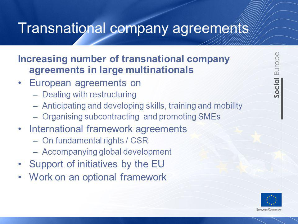 Transnational company agreements