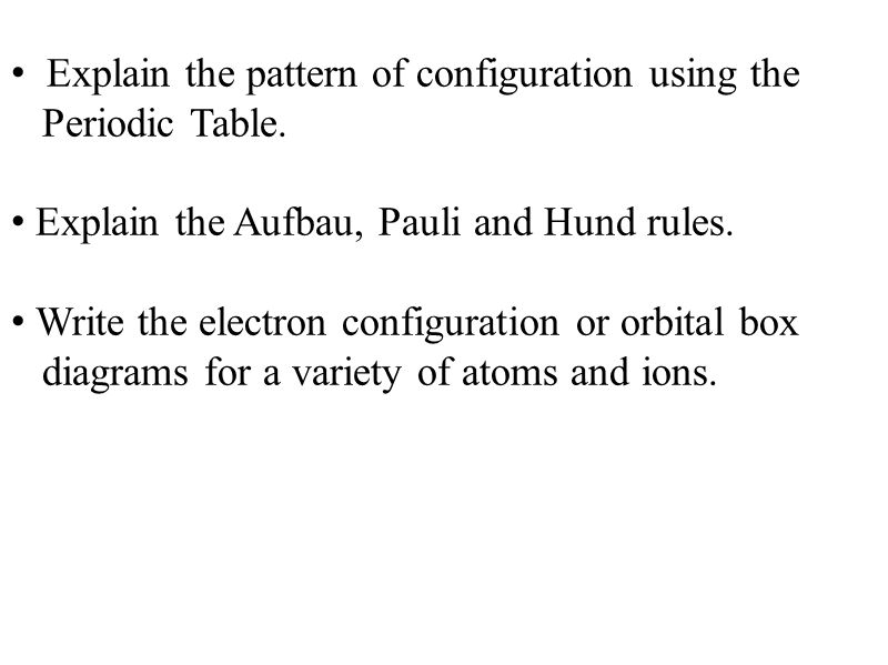 Explain the pattern of configuration using the