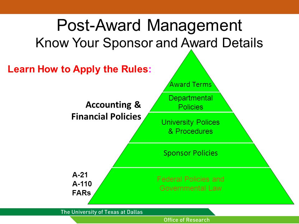 Post-Award Management Know Your Sponsor and Award Details