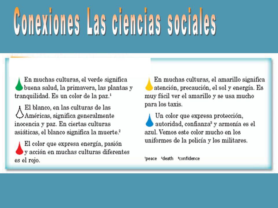 Conexiones Las ciencias sociales