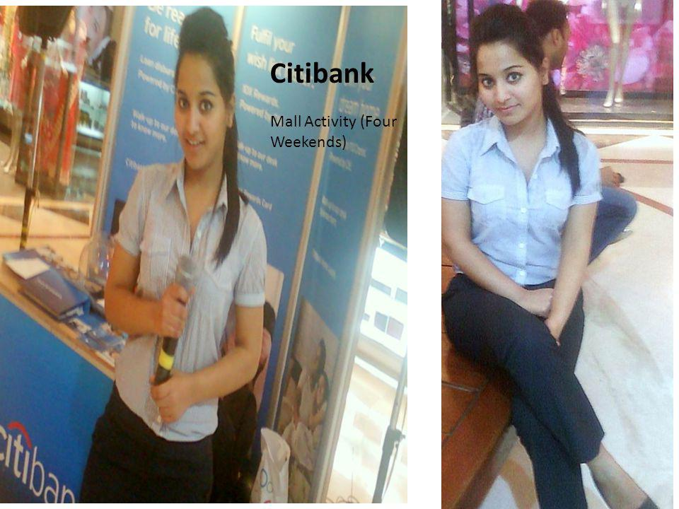 Citibank Mall Activity (Four Weekends)