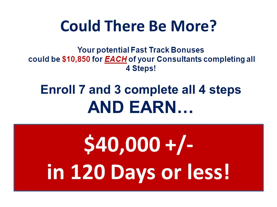 Enroll 7 and 3 complete all 4 steps AND EARN…