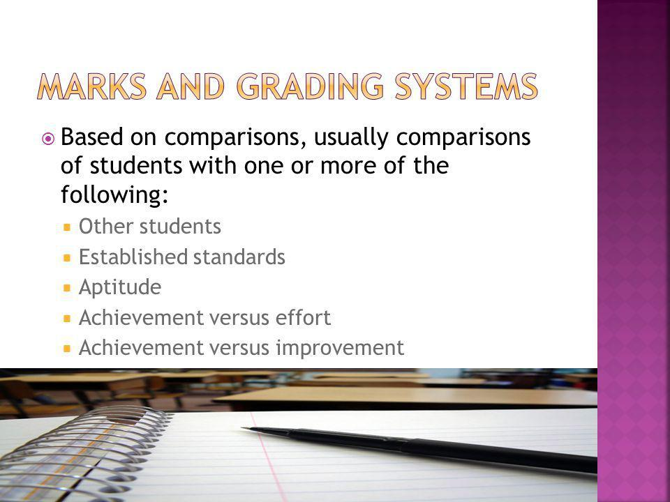 Marks and Grading Systems