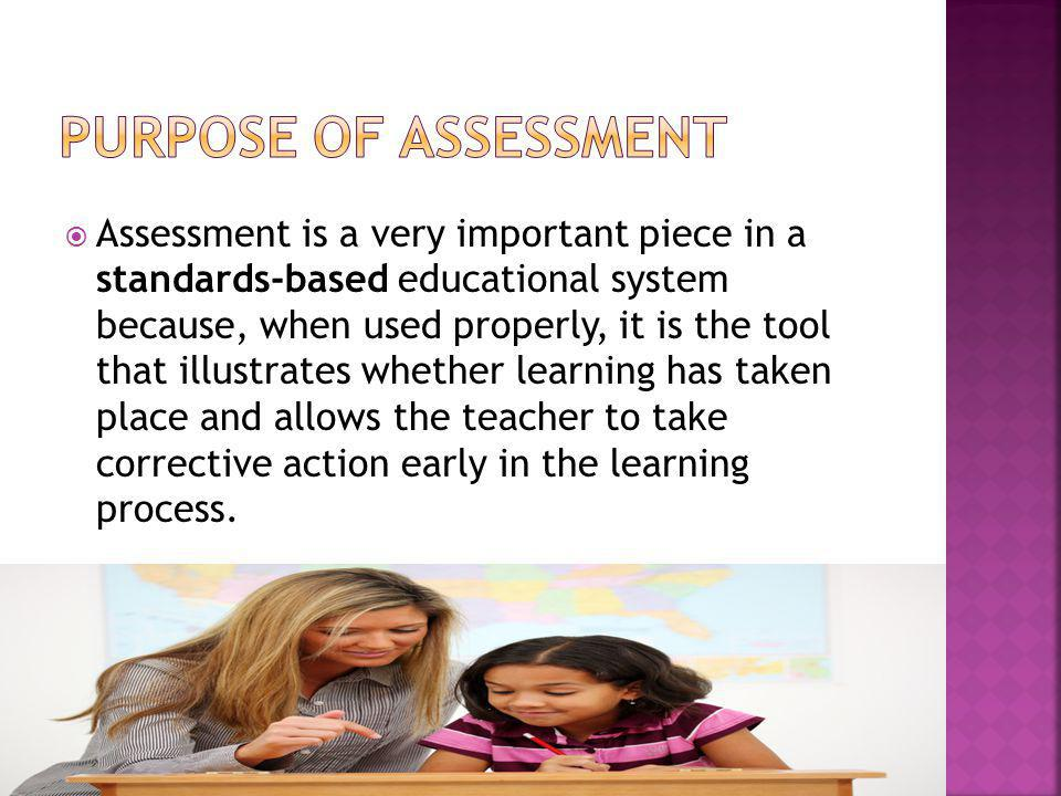 Purpose of Assessment