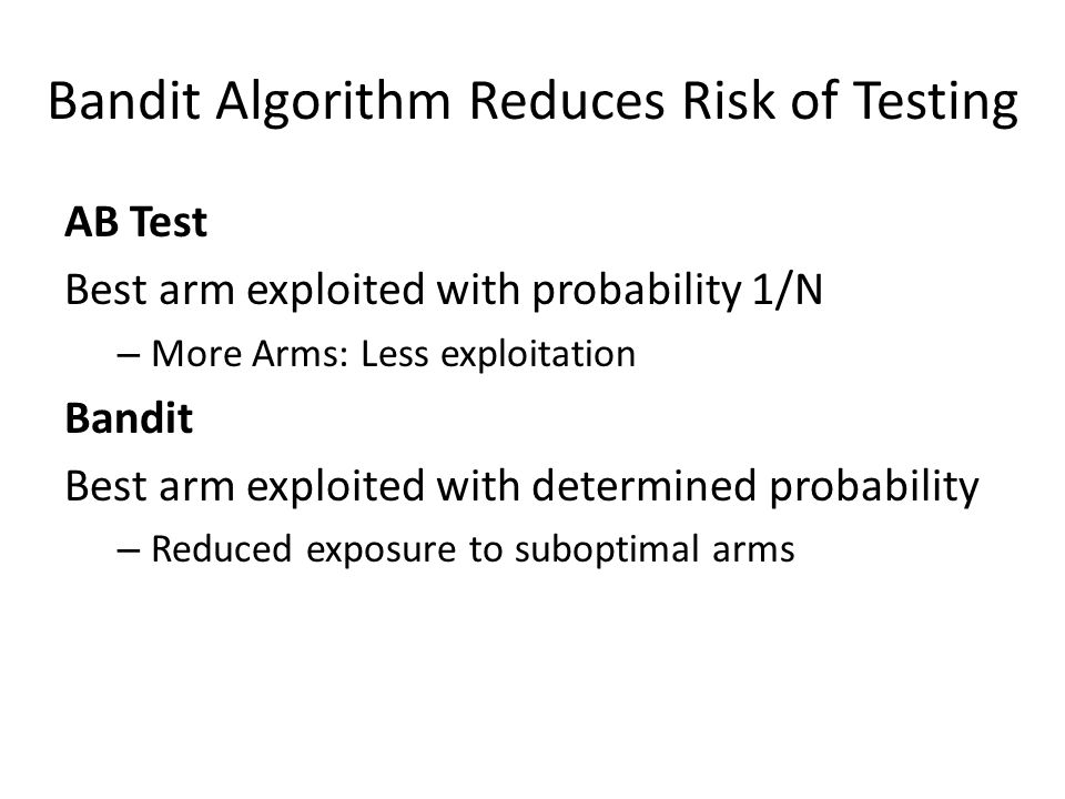 Bandit Algorithm Reduces Risk of Testing