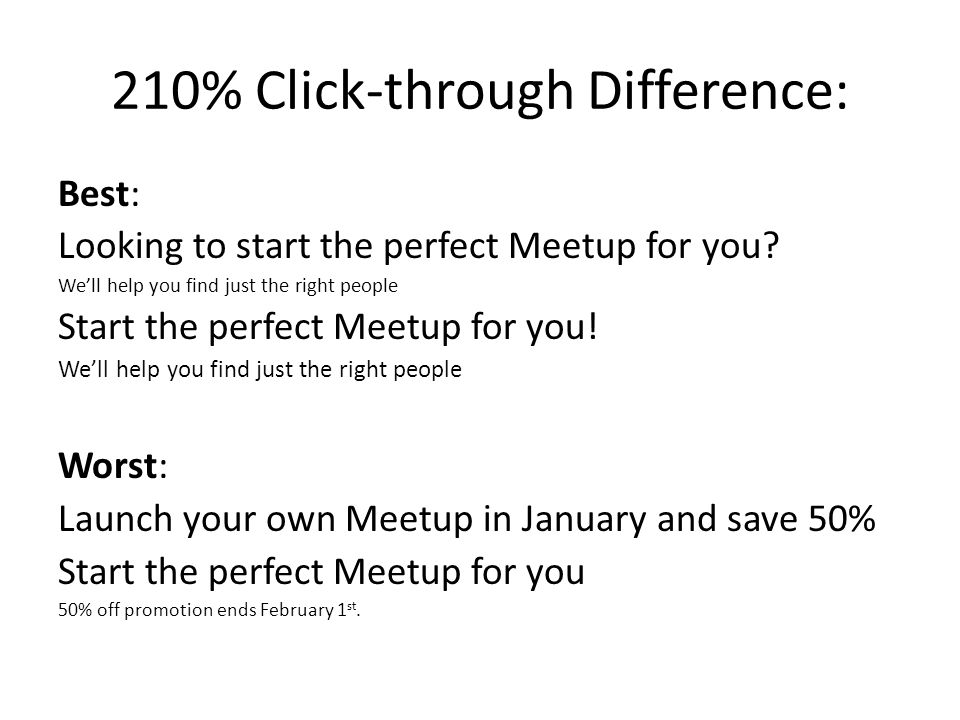 210% Click-through Difference: