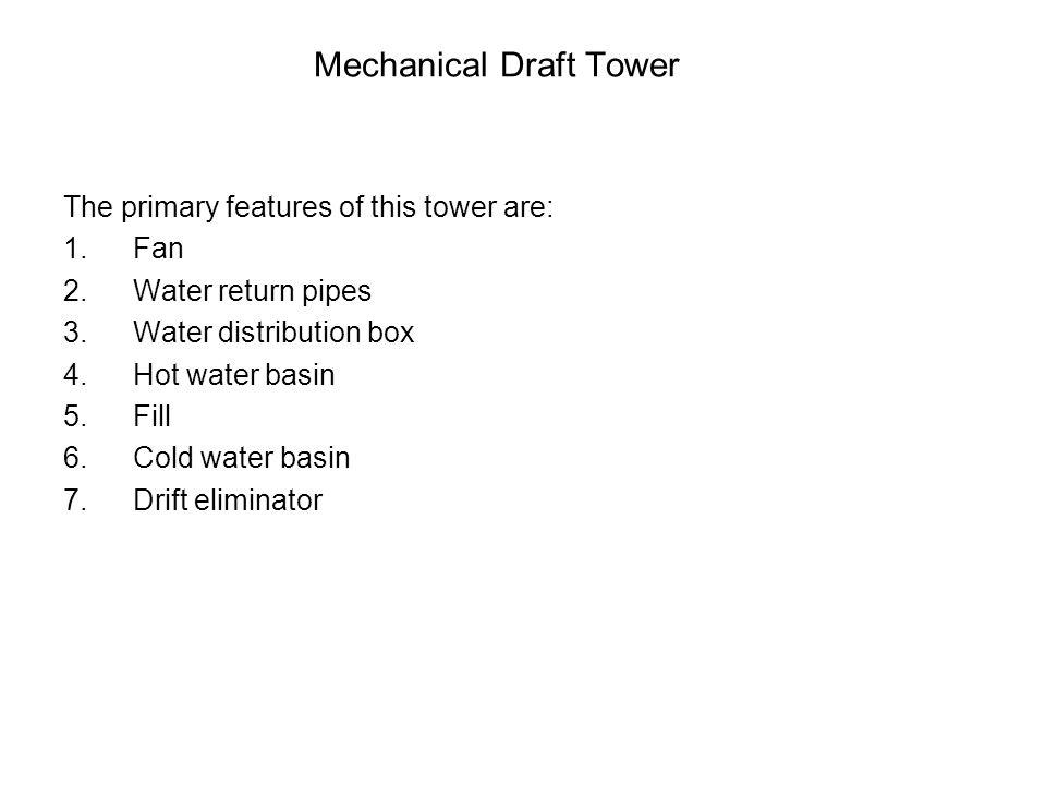Mechanical Draft Tower