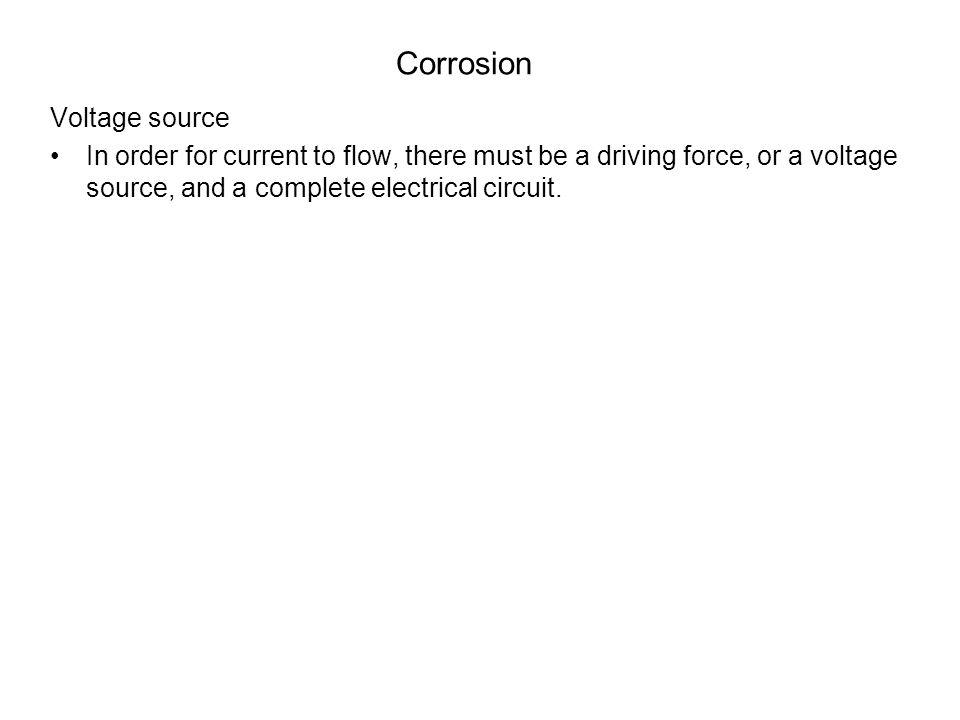 Corrosion Voltage source