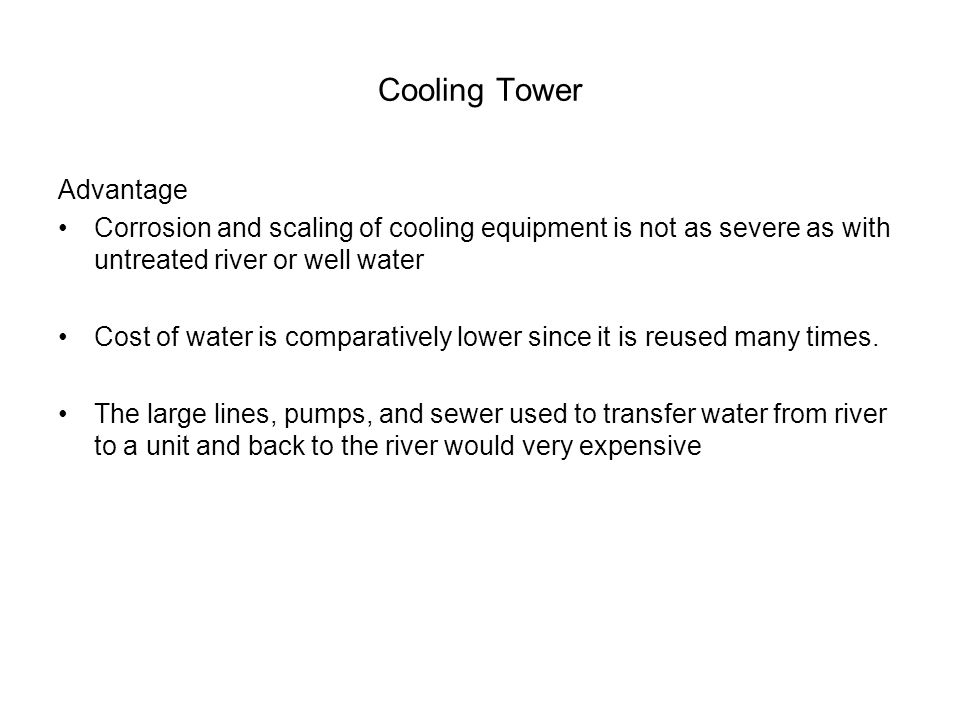 Cooling Tower Advantage