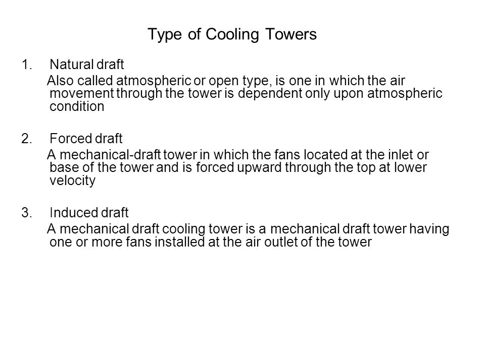 Type of Cooling Towers Natural draft