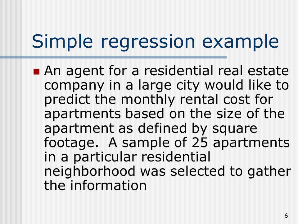 Simple regression example