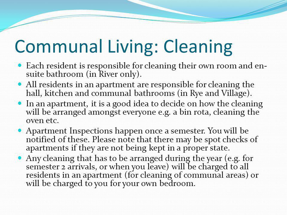 Communal Living: Cleaning