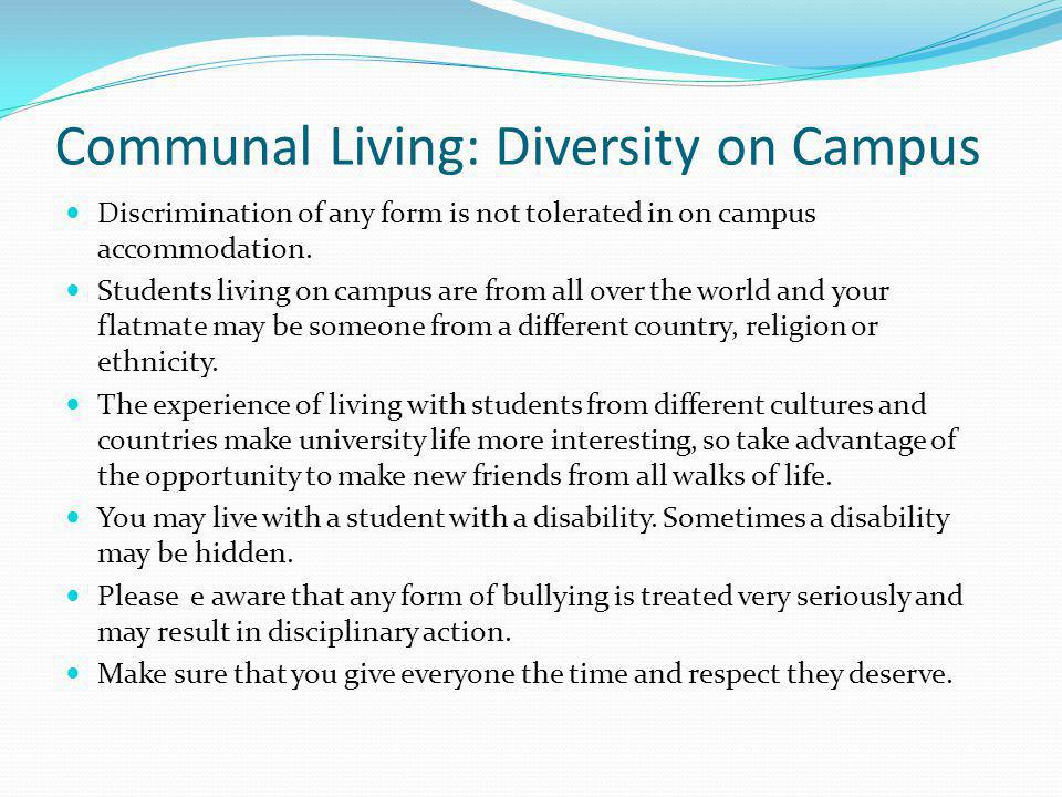 Communal Living: Diversity on Campus