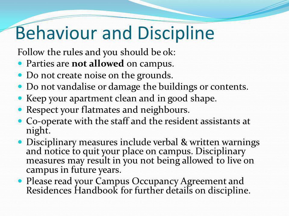 Behaviour and Discipline
