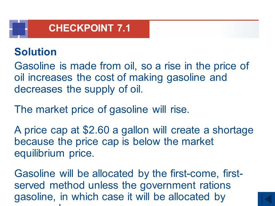 The market price of gasoline will rise.