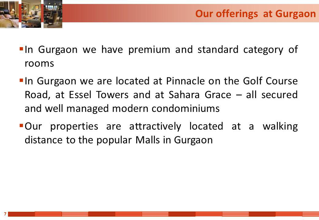 Our offerings at Gurgaon