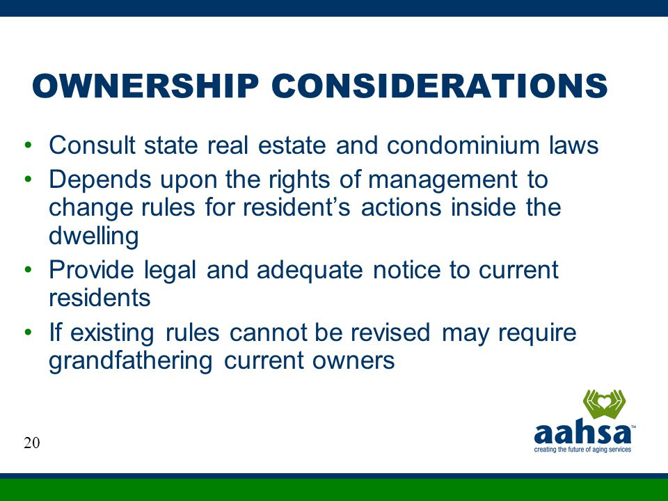 OWNERSHIP CONSIDERATIONS
