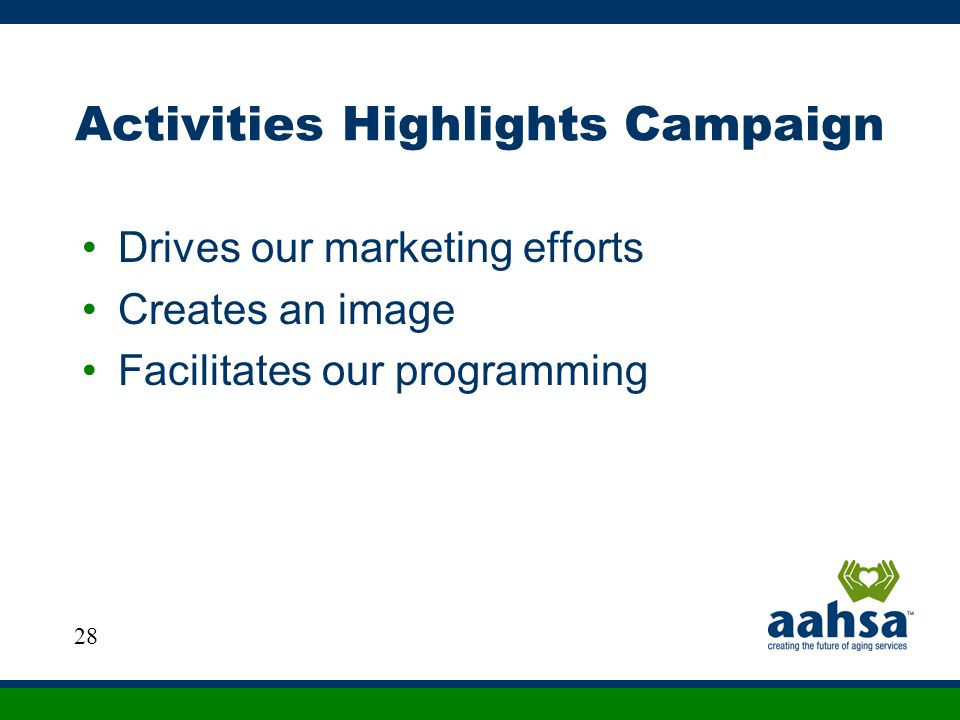 Activities Highlights Campaign
