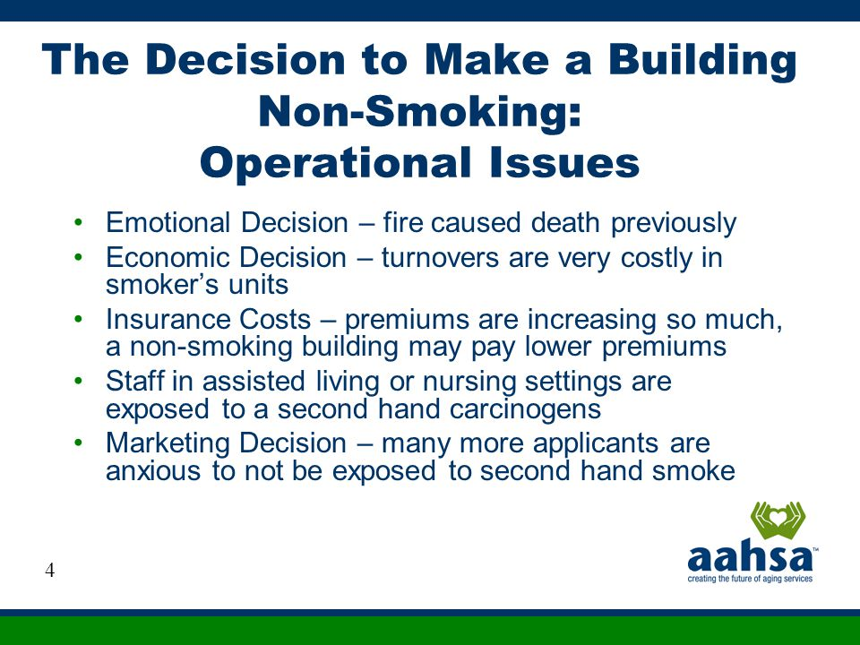 The Decision to Make a Building Non-Smoking: Operational Issues
