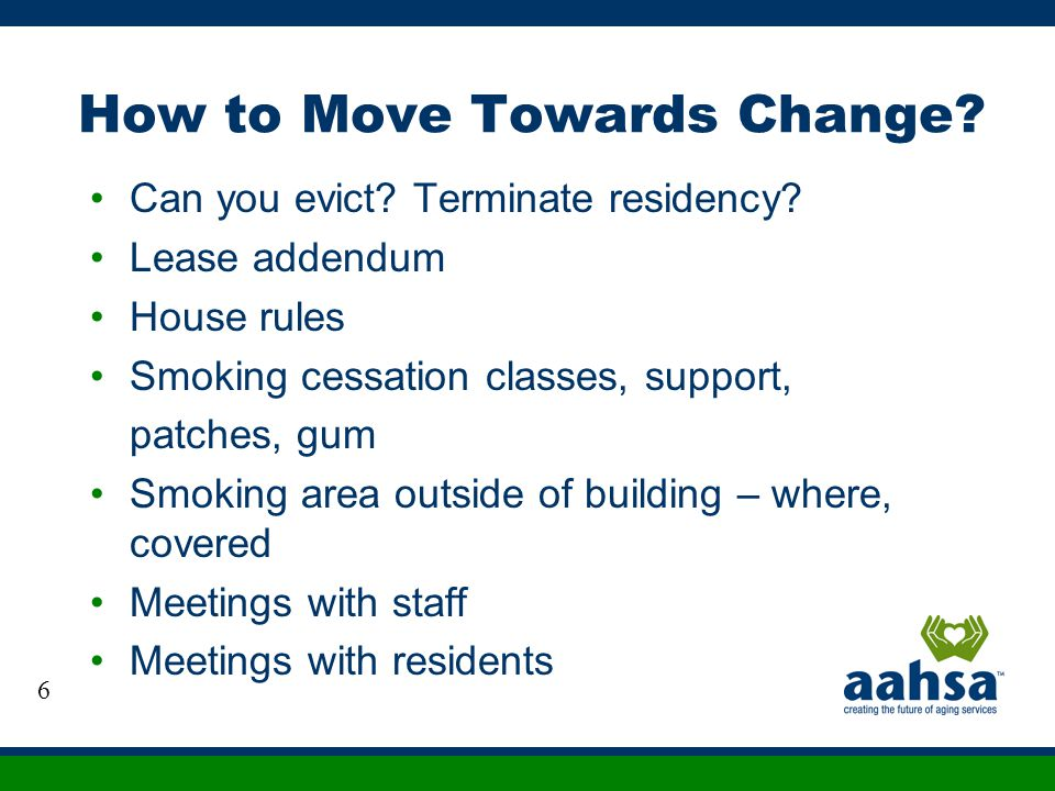 How to Move Towards Change