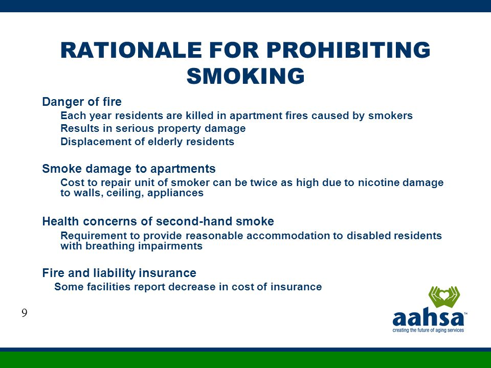 RATIONALE FOR PROHIBITING SMOKING